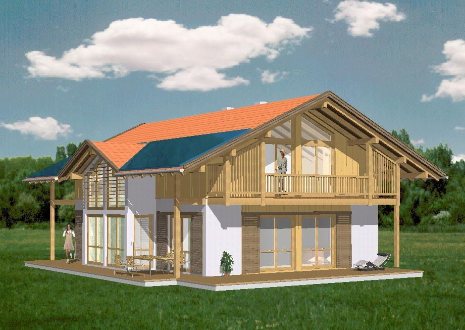 Bauplanung Archtekturbüro Dipl.-Ing.(FH) Georg Doll - CAD Musterhaus Holzkirchen